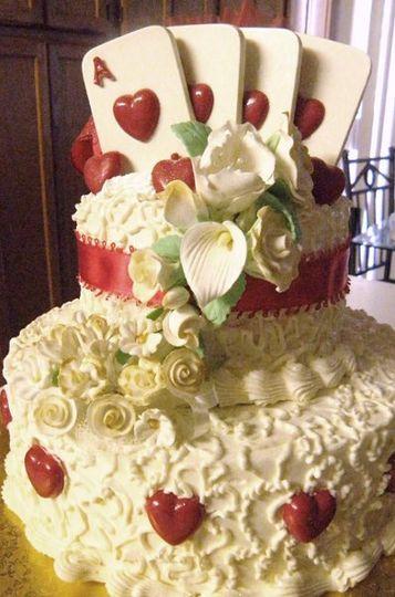 Ace of Hearts Wedding Cake