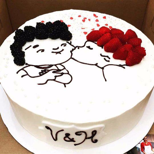 Wondrous Baked By Amy Wedding Cake Grand Rapids Mi Weddingwire Personalised Birthday Cards Veneteletsinfo