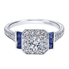 gabriel ring with sapphire