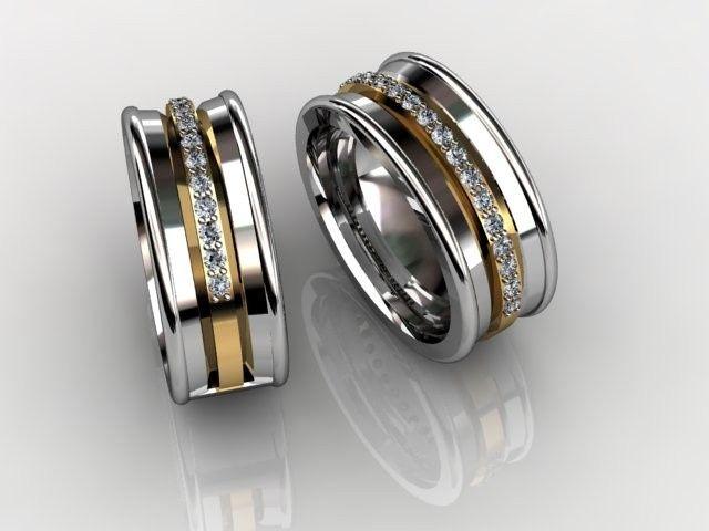Tmx 1455906987888 Mans Band Inverted Bevel W Pave.02ctw Dia Band Orlando wedding jewelry