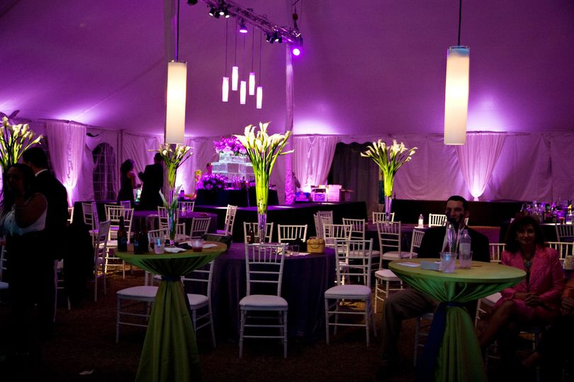 Elegant Uplighting in a tent Venue..