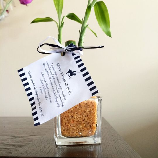 Bamboo Bridal Shower Favor with custom tag design