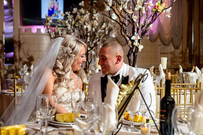 Table shot with Bride & Groom