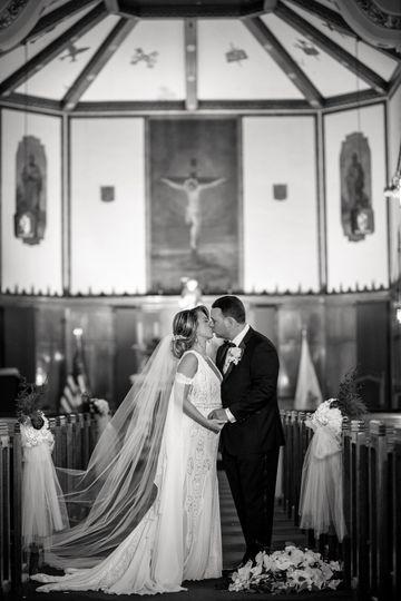 Wedding Portrait in Church
