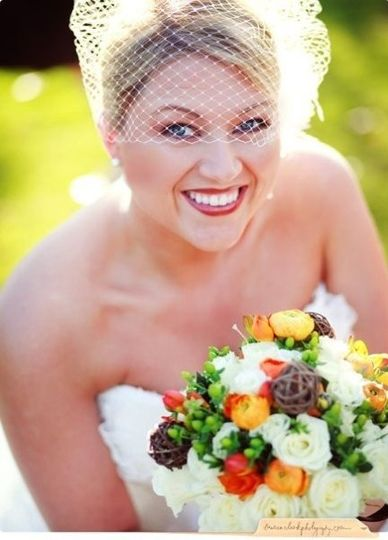 Vintage bride look