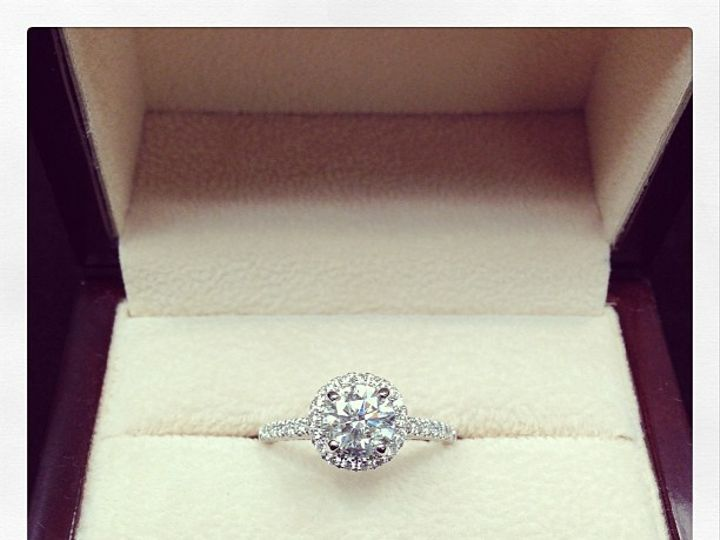 Tmx 1402776704082 1.03ct Diamond Halo Boston wedding jewelry