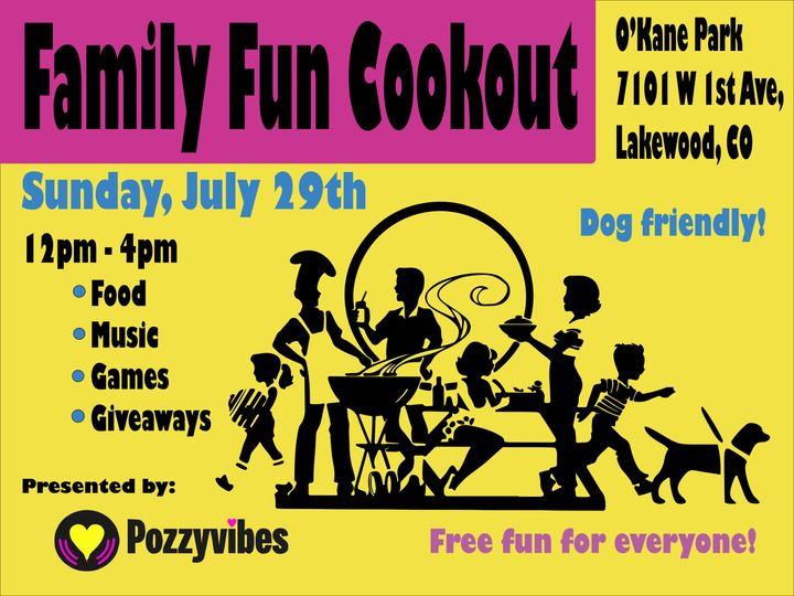 Join us Sunday, July 29, 2018 for a FREE Family Fun Cookout!
