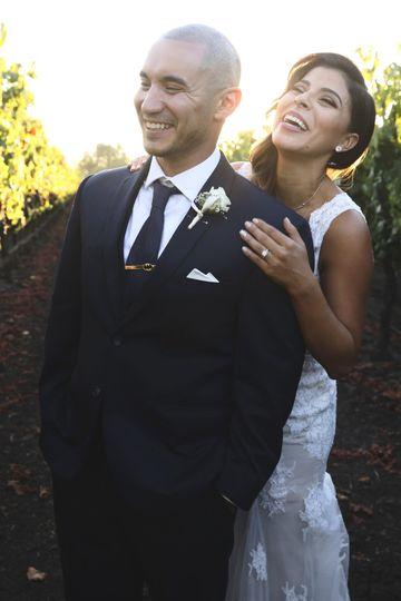 The happy couple DLGM Weddings