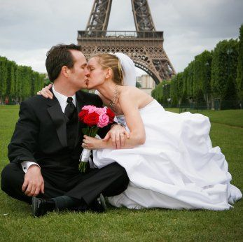 Tmx 1349578108111 EiffelTowerKiss West Chicago, Illinois wedding travel