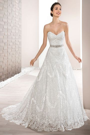 Style719      This elegant, classic, strapless gown with Sweetheart neckline features richly...