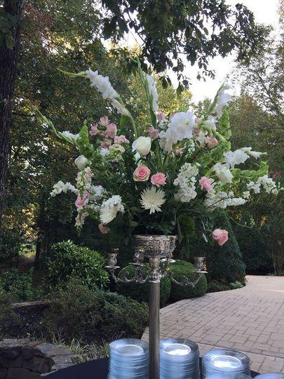 Outdoor flower decoration