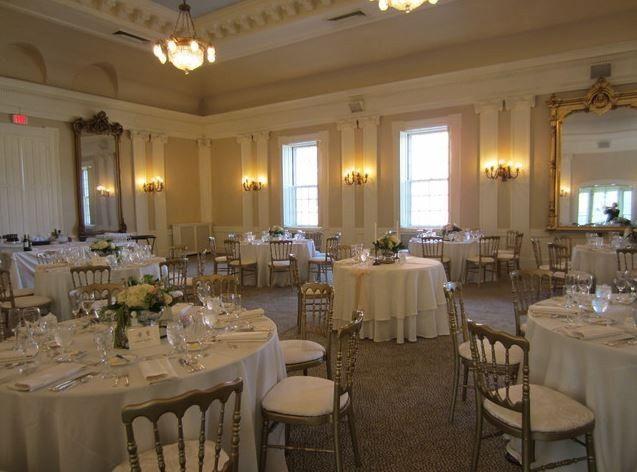 day wedding reception in upstairs ballroom.