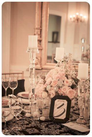 centerpieces at a wedding