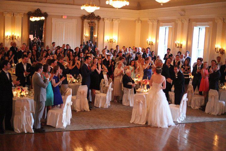 Guests enjoying the upstairs ballroom.