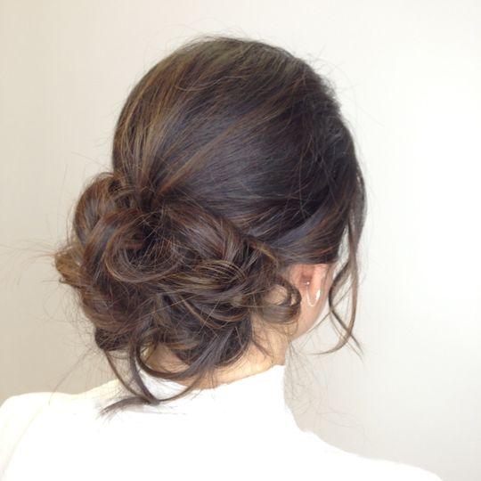 Messy hair updo