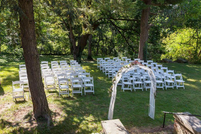 Ceremony area seating