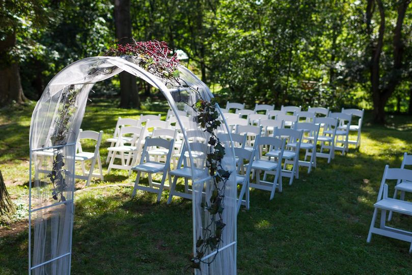 Ceremony area arch