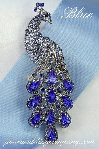 Tmx 1276119842366 BluePeacockBrooch Redmond wedding eventproduction
