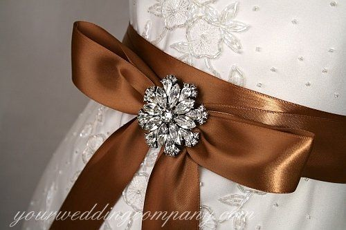 Tmx 1276119882725 BrownWeddingDressSash Redmond wedding eventproduction