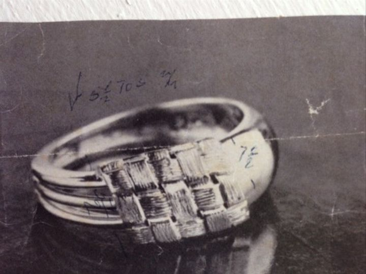 Tmx 1397677491375 Wovenringblkwh Parkville wedding jewelry