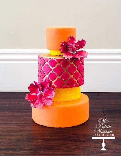 Ma Petite Maison Cake Design Wedding Cake Danville Ca