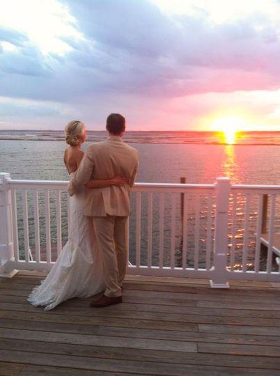 Jim & Erika Collins' 2015 December Wedding Ceremony Onsite overlooking the Intra Coastal Waterway in...