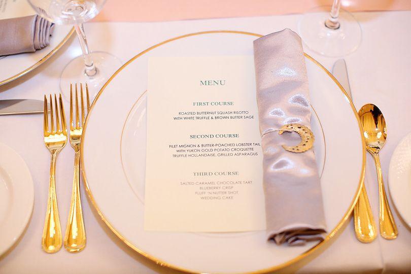 Table set up and menu list