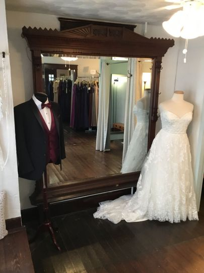 Tuxedo and wedding dress