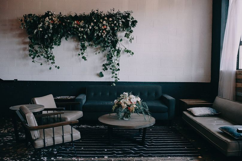 Intimate reception set up