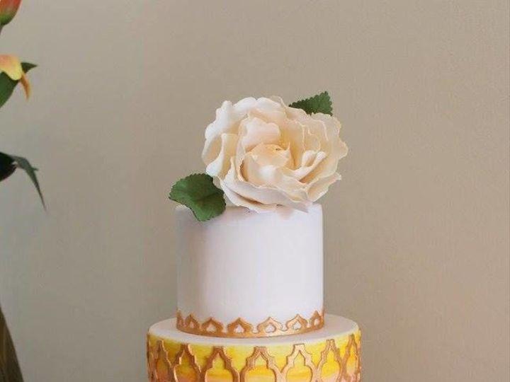 Tmx 1527278407 54f6e699715207c1 1527278406 B315ffe846e8d10f 1527278418286 7 Goldmoroccanpatter Lancaster, PA wedding cake