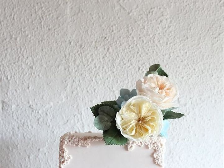 Tmx 1527278431 94cfd88f66409ec5 1527278431 11010e22736711c3 1527278443248 10 Pink Bas Relief Lancaster, PA wedding cake