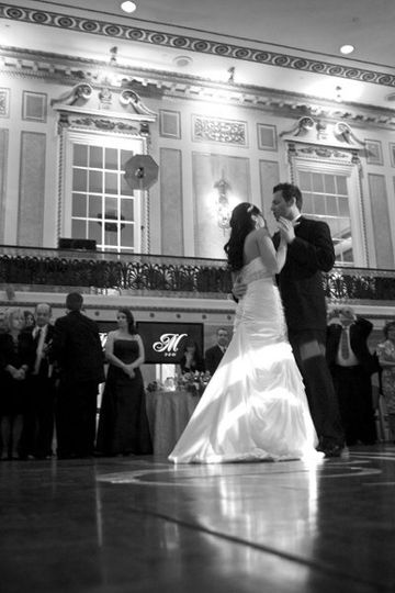 First dance at wedding at The Roosevelt Hotel, New York