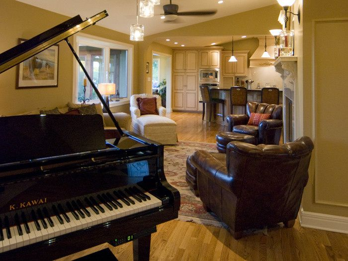 Great Room, featuring a player piano