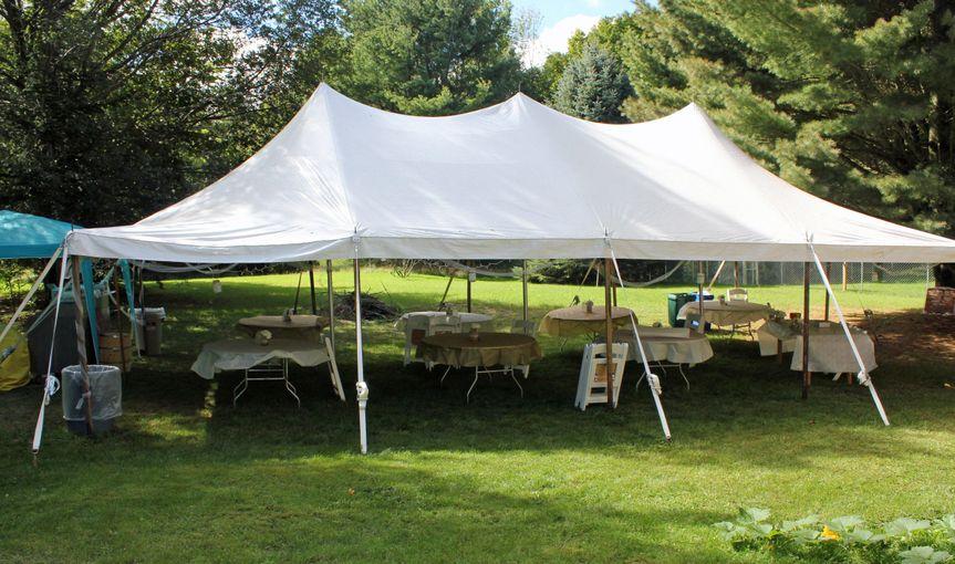 Outdoor table setup