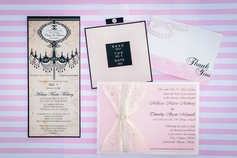 chanel wedding invitation lace invitation kouture