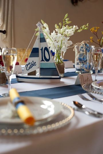 nautical table number beach themed weddihn invite