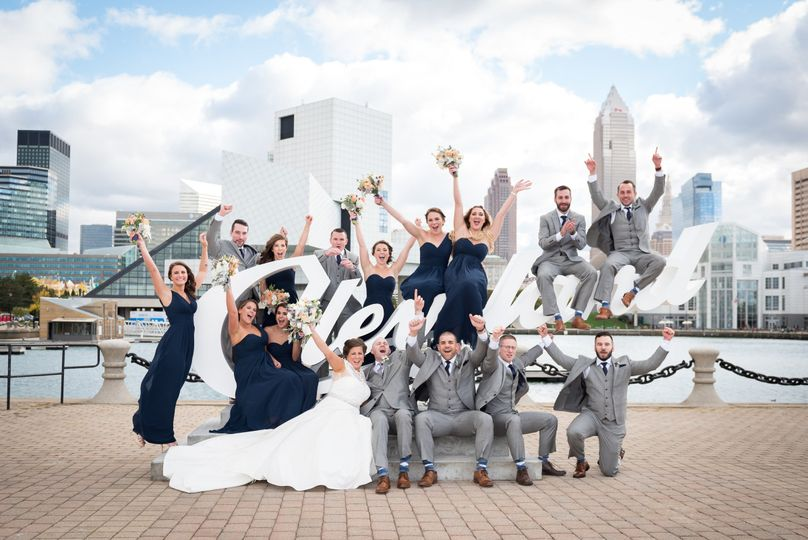 The wedding party Brass Key Photography