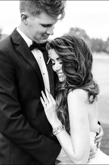 Black-and-white portrait Brass Key Photography