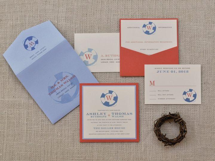 Tmx 1344012456359 AshleyThomas Sandusky wedding invitation