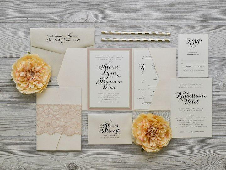 Tmx 1491074896480 The Alexis  Brandonchicago Collection Sandusky wedding invitation