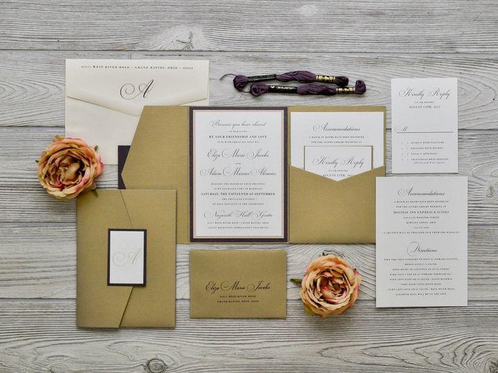 Tmx 1491074930244 The Eliza  Adamchicago Collection Sandusky wedding invitation