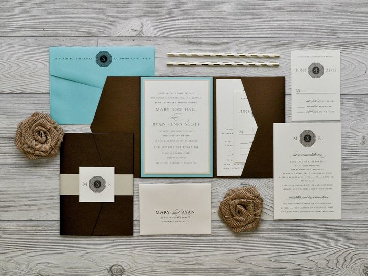 Tmx 1491075001584 The Mary  Ryanchicago Collection Sandusky wedding invitation