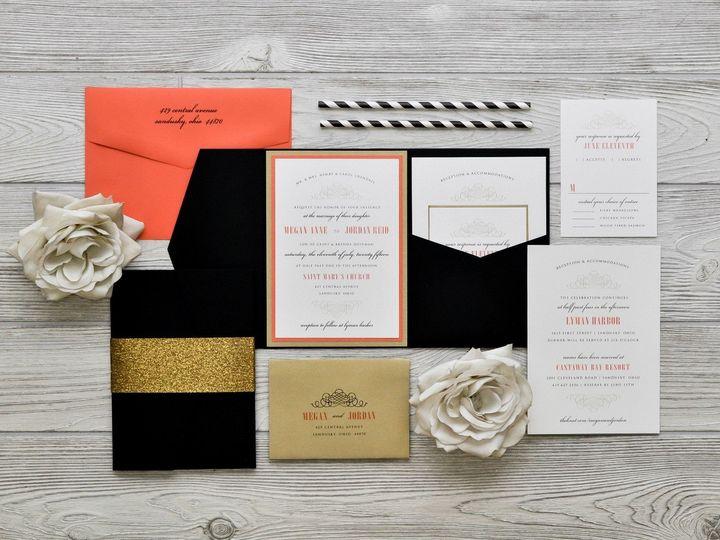 Tmx 1491075017636 The Megan  Jordanchicago Collection Sandusky wedding invitation