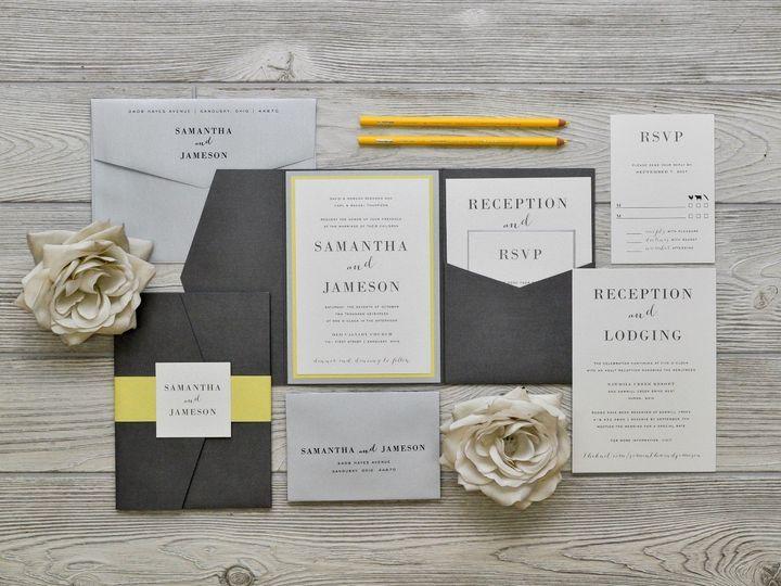 Tmx 1491075033698 The Samantha  Jamesonchicago Collection Sandusky wedding invitation