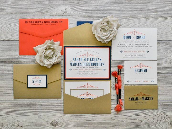 Tmx 1491075050384 The Sarah  Marcuschicago Collection Sandusky wedding invitation