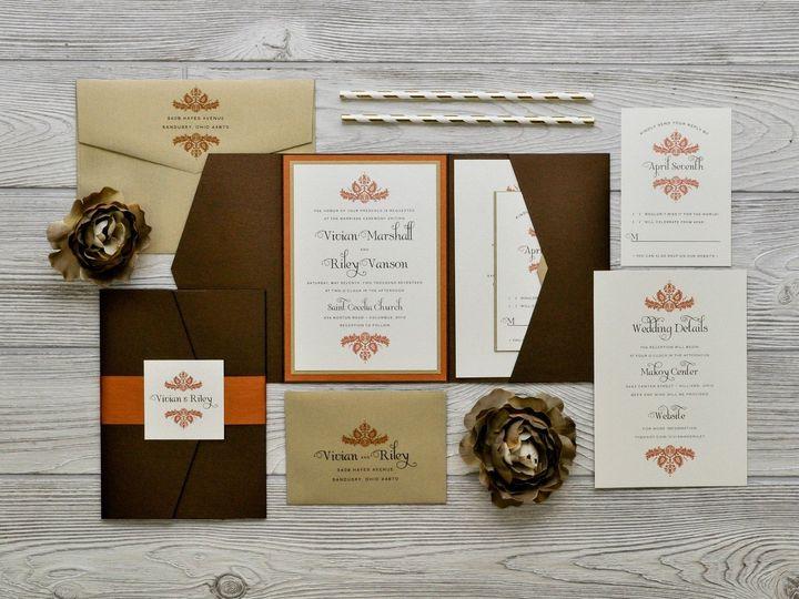 Tmx 1491075066211 The Vivian  Rileychicago Collection Sandusky wedding invitation