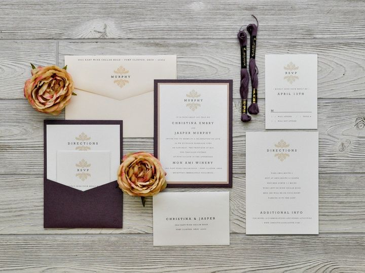 Tmx 1491501736275 The Christina  Jaspermanhattan Collection Sandusky wedding invitation