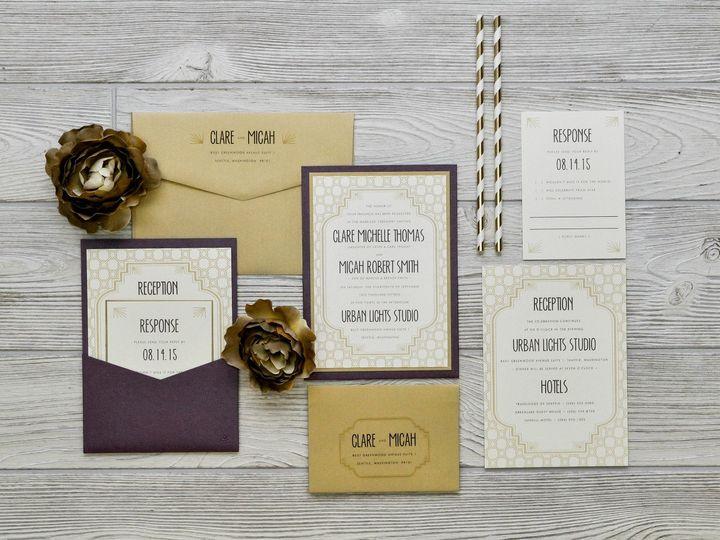 Tmx 1491501758488 The Clare  Micahmanhattan Collection Sandusky wedding invitation
