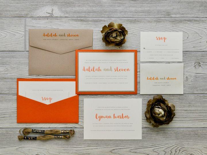 Tmx 1491501776515 The Dalilah  Stevenmanhattan Collection Sandusky wedding invitation