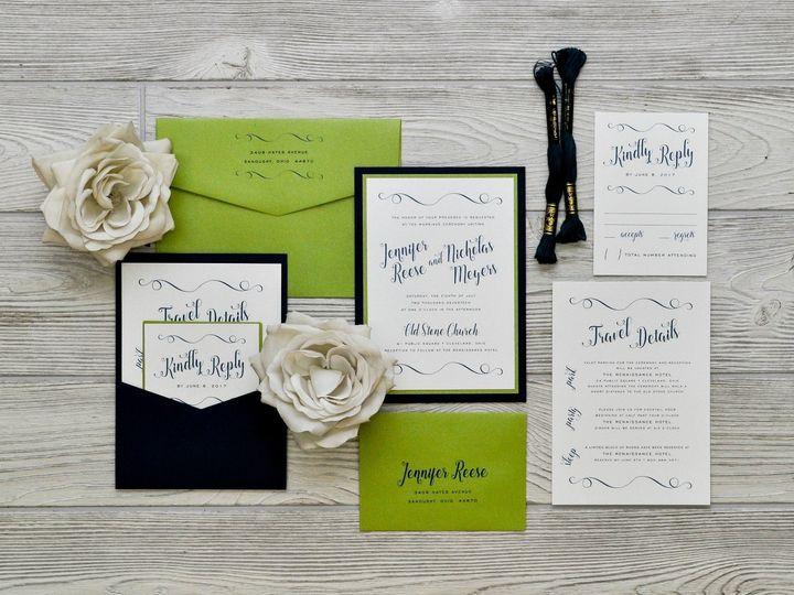 Tmx 1491501810425 The Jennifer  Nicholasmanhattan Collection Sandusky wedding invitation
